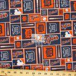 Major League Baseball Cotton Fabric Detroit Tigers Retro