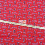 Major League Baseball Cotton Fabric Los Angeles Angels