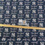 Major League Baseball Cotton Fabric New York Yankees