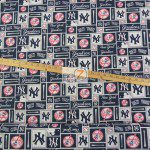 Major League Baseball Cotton Fabric New York Yankees Retro