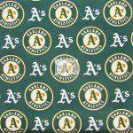 Major League Baseball Cotton Fabric Oakland Athletics A's