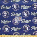 Major League Baseball Cotton Fabric San Diego Padres