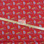 Major League Baseball Cotton Fabric St. Louis Cardinals