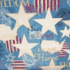 American USA Cotton Fabric Colors Of Freedom Blue