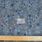 American USA Cotton Fabric Midnight Stars
