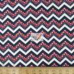 Chevron Zig Zag Stars American Cotton Fabric