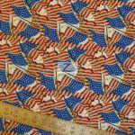 Packed Flags Allover American Cotton Fabric