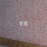Red Stars On White American Cotton Fabric