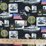 Support Our Troops U.S. Army American Cotton Fabric