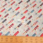 USA American Cotton Fabric Parade On Main Firecrackers