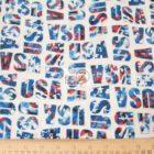 USA American Cotton Fabric Pride & Glory