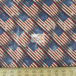 Vintage American Flags American Cotton Fabric
