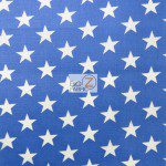 American Stars Poly Cotton Fabric Blue