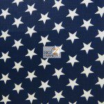 American Stars Poly Cotton Fabric Navy