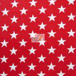 American Stars Poly Cotton Fabric Red