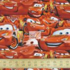 Disney Cotton Fabric Cars Packed Mcqueen