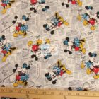 Disney Cotton Fabric Disney's Mickey Minnie Mouse Vintage