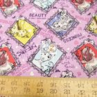 Disney Cotton Fabric Princess Sketch Toss