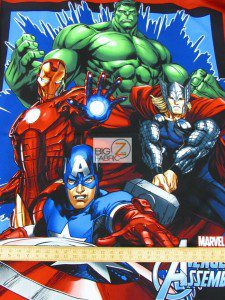 Marvel Avengers Cotton Fabric Panel