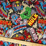 Marvel Comics Characters Cotton Fabric