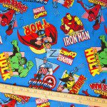 Marvel Comics Heroes Cotton Fabric