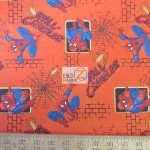 Marvel Comics Spiderman Wall Crawler Cotton Fabric