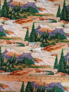 Lakeside Angelers Landscape By Robert Kaufman Cotton Fabric
