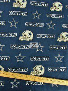 NFL Dallas Cowboys All Over Helmets Cotton Fabric