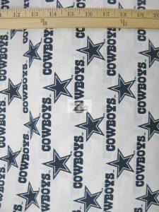 NFL Dallas Cowboys Stars Cotton Fabric