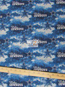 NFL Dallas Cowboys Tie Dye Cotton Fabric