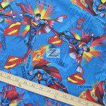 It's Superman Blue DC Comics Cotton Fabric