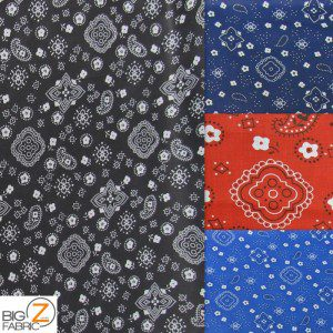 Paisley Bandanna Cotton Printed Fabric