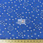 Paisley Bandanna Cotton Printed Fabric Royal Blue