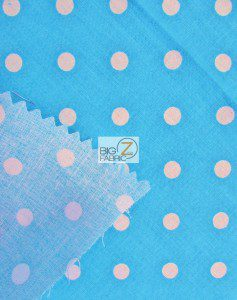 Polka Dot Cotton Fabric Backing