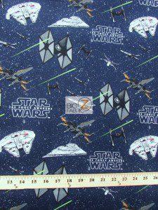 Star Wars The Force Awakens Galactic Combat Cotton Fabric
