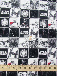 Star Wars The Force Awakens Kylo Rens Army Cotton Fabric