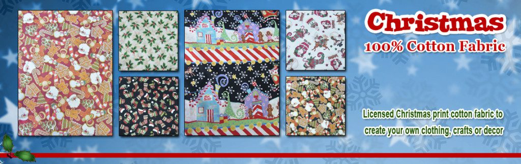 Christmas Print Cotton Fabric
