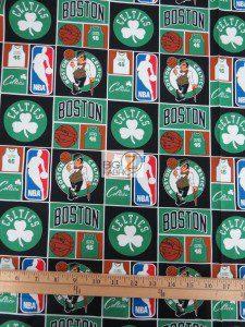 Licensed NBA Cotton Fabric Boston Celtics