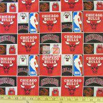 Licensed NBA Cotton Fabric Chicago Bulls