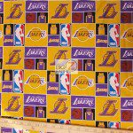 Licensed NBA Cotton Fabric Los Angeles Lakers
