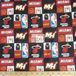 Licensed NBA Cotton Fabric Miami Heat