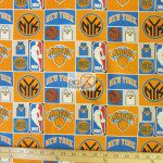 Licensed NBA Cotton Fabric New York Knicks