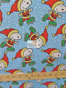Snoopy Christmas Cotton Fabric