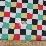 Benartex Cotton Fabric Arnolds Diner Checkered Board