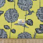 Benartex Cotton Fabric Lemon Tree Perch Floral Birds