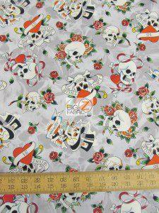 Ed Hardy Love Is True Cotton Fabric