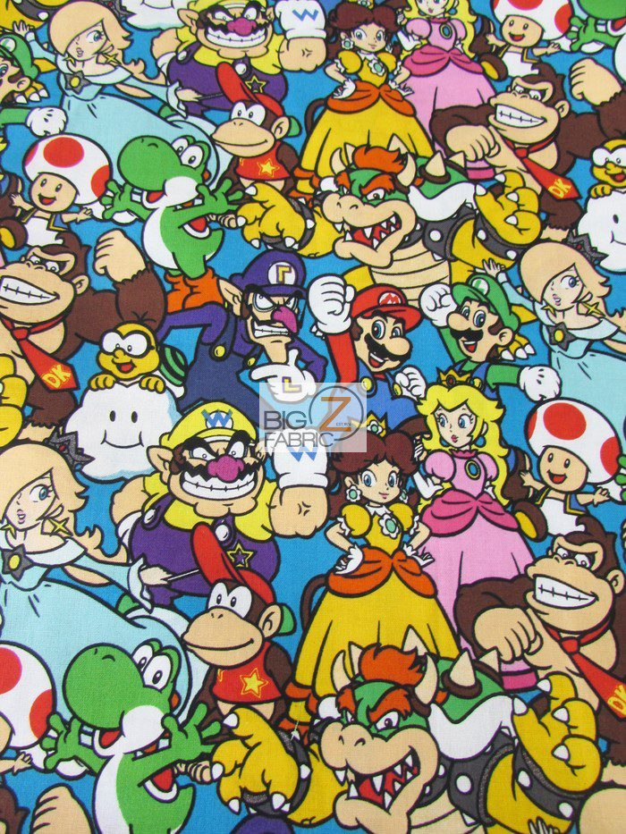 Licensed Super Mario Cotton Fabric