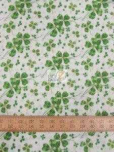St Patrick's Day Lucky Shamrock Cotton Fabric