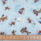 Western 100% Cotton Fabric Ride 'Em Cowboy Rodeo