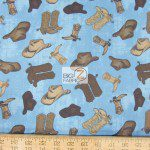 Western Print Cotton Fabric Ironwood Ranch